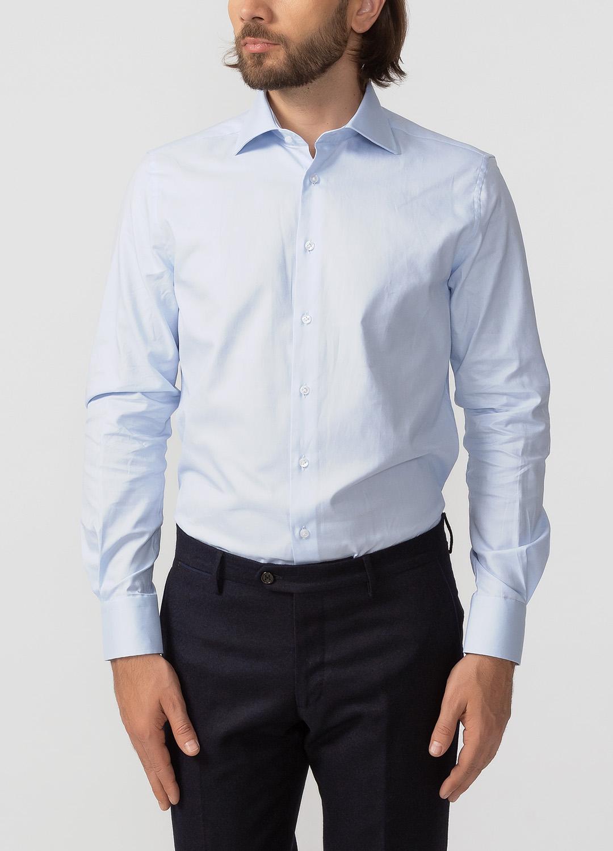 c03c924b3c3 Голубая рубашка с длинными рукавами для мужчин MEUCCI (Италия)