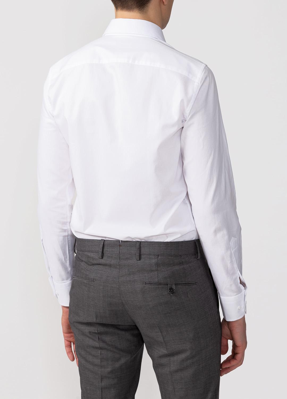 241b7ba618db084 Белая классическая рубашка для мужчин MEUCCI (Италия), арт. SL 90202 R  BAS0193/141712, цвет белый с микродизайном, модная дизайнерская коллекция  New ...