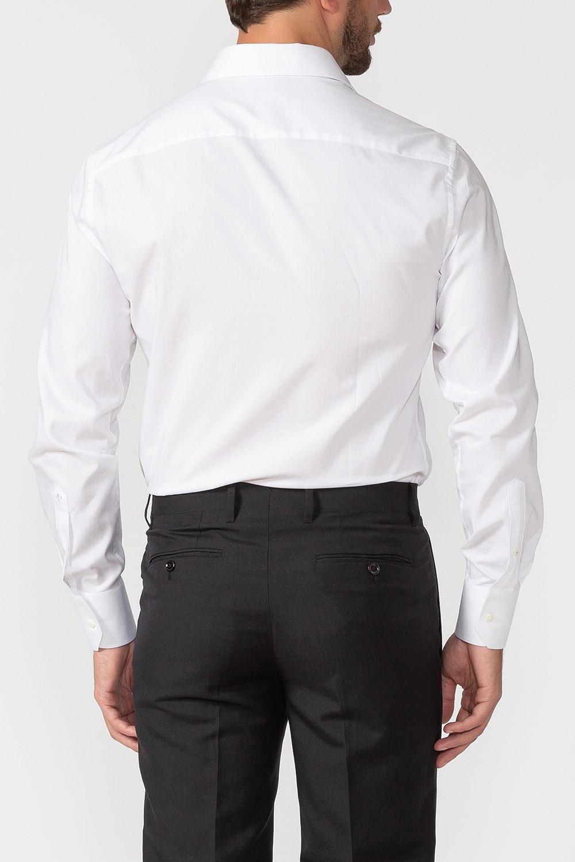 4ccafac20320e73 Классическая белая рубашка с микродизайном для мужчин MEUCCI (Италия), арт.  SL 90202 R BAS0193/141711, цвет белый, модная дизайнерская коллекция  Весна-Лето ...