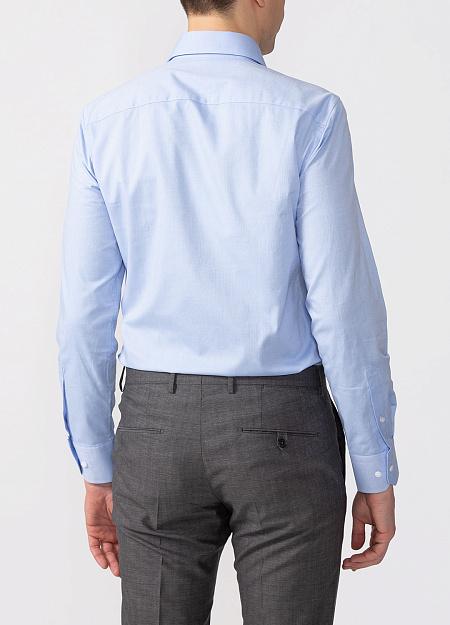 a32c1f3fdcd66b7 Модная мужская голубая рубашка с микродизайном арт. SL 90202 R  BAS2193/141716 от Meucci