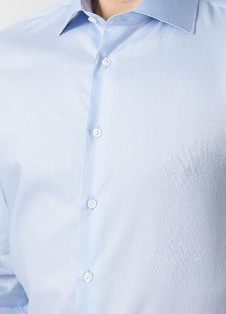 64e27275dd5ffe3 Модная мужская голубая рубашка с микродизайном арт. SL 90202 R  BAS2193/141703 от Meucci