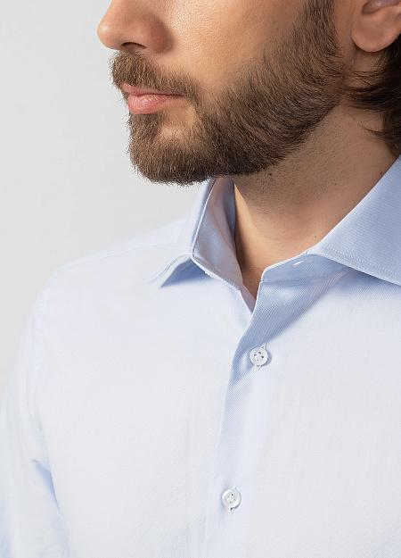 7216ea08845 Модная мужская голубая рубашка с длинными рукавами арт. SL90202R1020182 1601  от Meucci (Италия