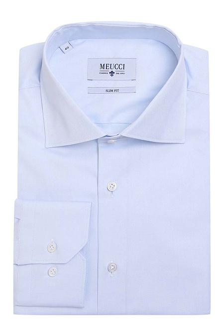 4920943f4c9e411 Модная мужская классическая голубая рубашка арт. SL 90102 R 12171/141281 от  Meucci (