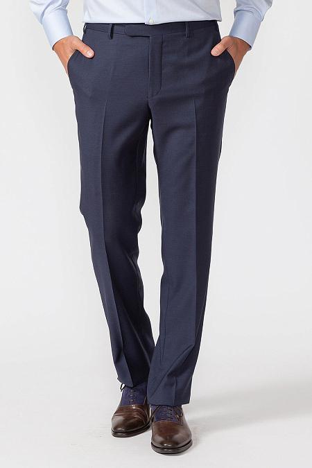 Мужские брендовые темно-синие классические брюки в клетку арт. MI  30061 3141 Meucci a4596e02778ab