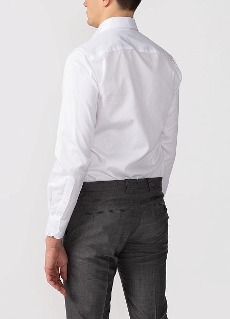 cc6bc5df7fd7ee5 Модная мужская классическая белая рубашка с микродизайном арт. SL 90202 R  BAS0193/141711 от